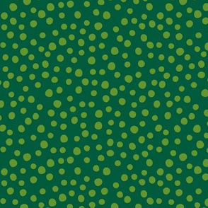 Crocodile jungle green dots