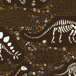 Dinosaur Fossils - Brown
