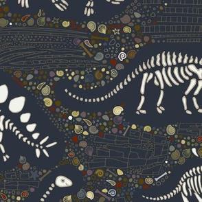 Dinosaur Fossils - grey