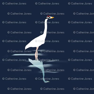 Wading Whooping Crane