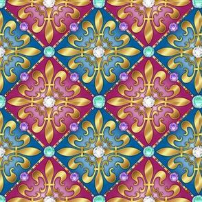 Jeweled Fleur di lis Diamonds