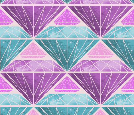Diamonds! fabric by inkysunshine on Spoonflower - custom fabric