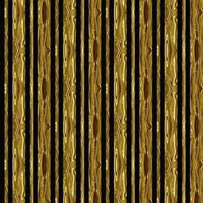 Small Precious Metal Gold and Black Stripes