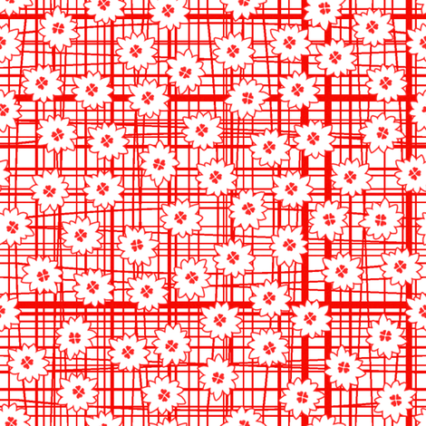 Lois strawberry fabric by lilyoake on Spoonflower - custom fabric