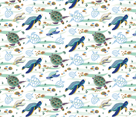 turtles tile 1 fabric by yd-_designs on Spoonflower - custom fabric