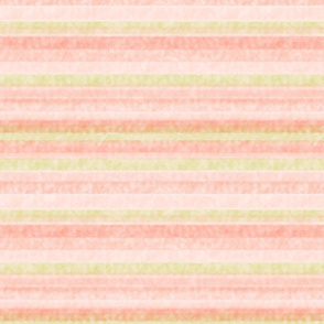 Watercolor Pastel Peachy Stripes