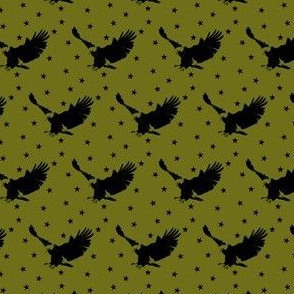 Eagle and Stars in Olive