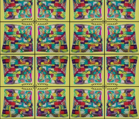containedcrazygreenblock2 10.53 fabric by betz on Spoonflower - custom fabric