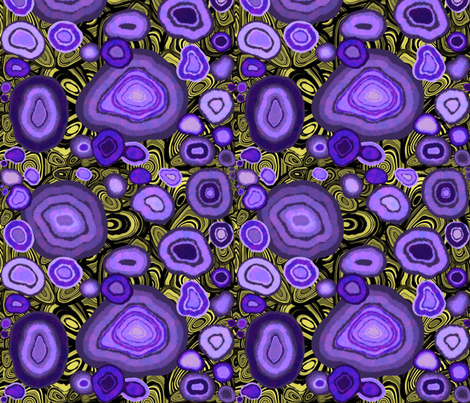 Purple Agate Geode fabric by maryartdecor&design on Spoonflower - custom fabric