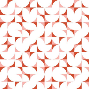 mid century tiles - Surf's Up collection coordinate in sunset orange