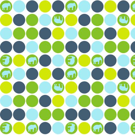 Urban Circus Elephants Dots Blue fabric by lauriewisbrun on Spoonflower - custom fabric