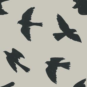 Falcon Silhouettes (grey)