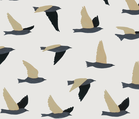 Flock of Birds fabric by melissa_boardman on Spoonflower - custom fabric