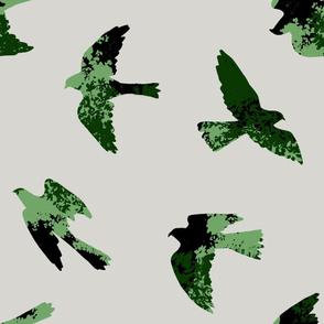 Leafy Birds (green)