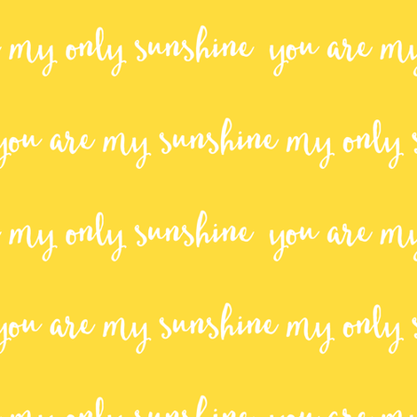 Sunshine - yellow fabric by littlearrowdesign on Spoonflower - custom fabric