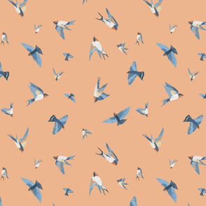 Scattered Swallows (peach)
