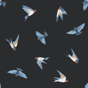 Scattered Swallows (dark grey)