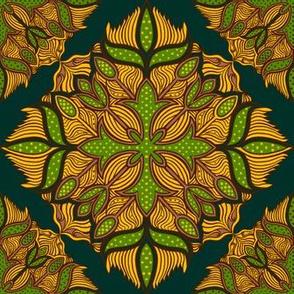 Dense Green Diamond Tile