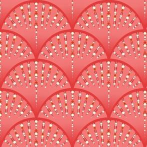 Embelish - Art Deco/ Coral Ombré   & Pearls
