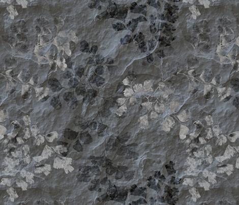 Fern Fossils in Grey Slate   fabric by wickedrefined on Spoonflower - custom fabric