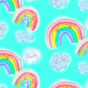 Rainbows and clouds on aqua min
