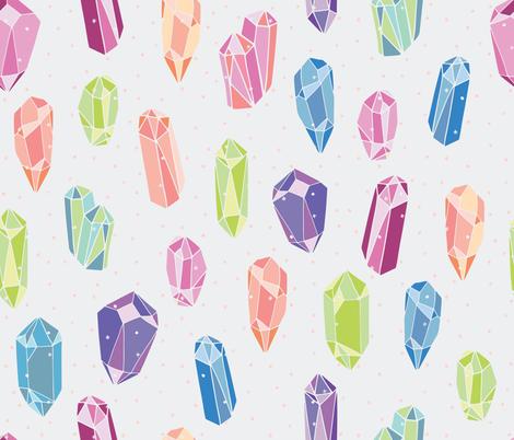 Rainbow Crystals fabric by airheademmy on Spoonflower - custom fabric