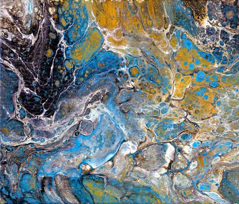 Geology Macro - Lapis Agates Mineralogy - Large Scale fabric by aspenartsstudio on Spoonflower - custom fabric