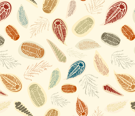 Trilobite Dig fabric by cleolovescolor on Spoonflower - custom fabric
