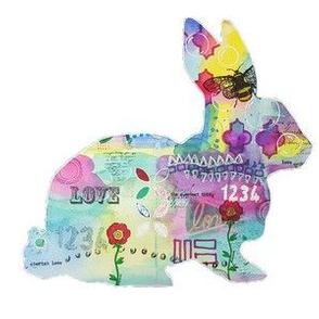 Mixed Media Bunny Silhouette