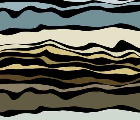 Ruapehu layers  fabric by pookeek on Spoonflower - custom fabric