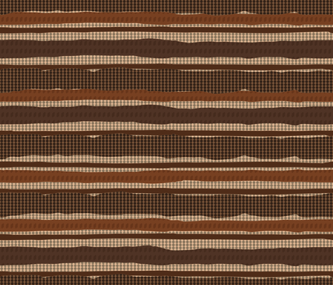 Irregular Stripes + Dots (Brown) fabric by doris_rguez on Spoonflower - custom fabric