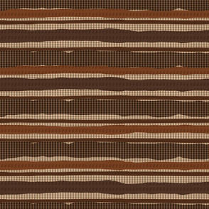 Irregular Stripes + Dots (Brown)
