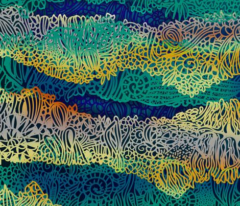 Fossil Strata fabric by honoluludesign on Spoonflower - custom fabric