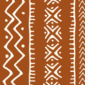 Mud Cloth II // Ivory on Golden Brown // Large