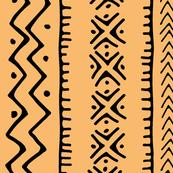 Mud Cloth II // Tacao Orange // Large