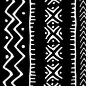 Mud Cloth II // Black // Large
