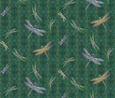 jadetilesanddragonflyfossils fabric by notbrownplaid on Spoonflower - custom fabric