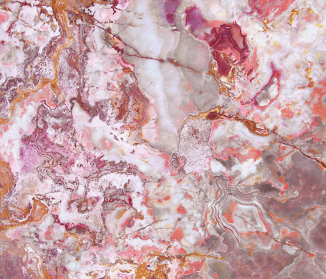 PInk Marble fabric by delinda_graphic_studio on Spoonflower - custom fabric