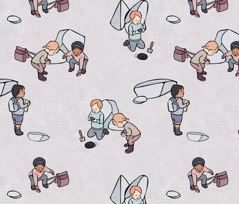 Little Geologists fabric by elisabethnoel on Spoonflower - custom fabric