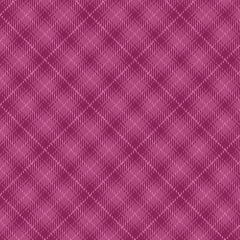 07495151 : bias tartan : berry pink fabric by sef on Spoonflower - custom fabric
