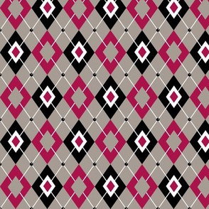argyle rose and grey