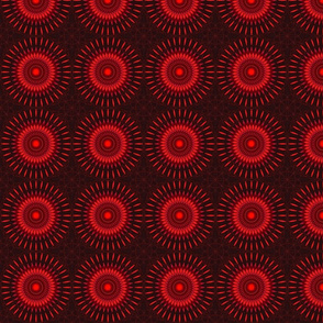 Red Sun Tiling Mandala