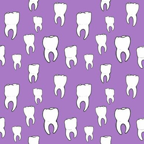 Teeth purple
