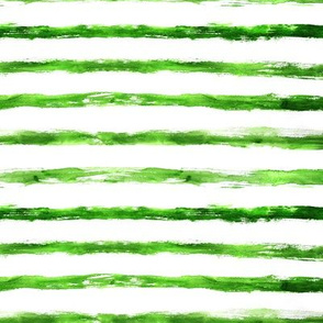 Grungy green brushstroke stripes, horizontal