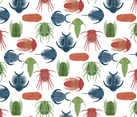 Trilobite Party  fabric by red_raspberry_designs on Spoonflower - custom fabric