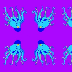 LG Blue Octopus Swim Meet on Purple with Stetson Newsboy Cap