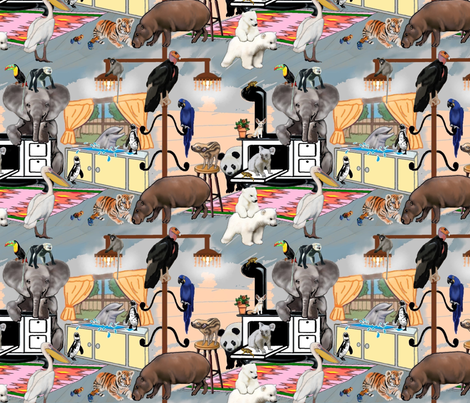 Endangered Animals - Cook'nup Some Fun fabric by adrianne_vanalstine on Spoonflower - custom fabric
