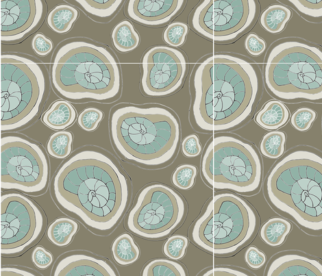 Fossil2-01 fabric by oceangirlcreativeco on Spoonflower - custom fabric