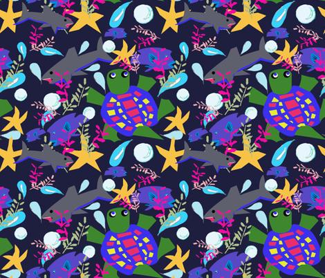 Endangered ocean life fabric by lorloves_design on Spoonflower - custom fabric
