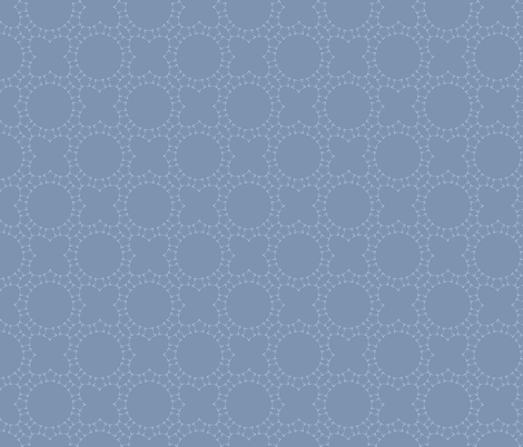 Starlight Lattice Dark: Chambray Blue 9 fabric by dept_6 on Spoonflower - custom fabric